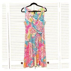 🎉HOST PICK Ralph Lauren colorful sleeveless dress